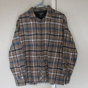 Horny Toad Mens Large Flannel Button Up Shirt